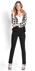 Relaxed Leg Slimming Pant for Women wear to Work Pull-On Easy On Stretch Pant for women