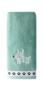 Hand Towel, Hand Towel with Dogs, Scribble Pup, Scribble Pup Hand Towel