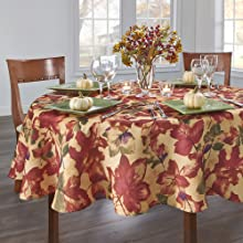 Elrene Home Fashions Harvest Festival Round Tablecloth