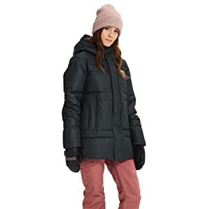 snowboarding jacket duck down insulated warm comfort media pocket