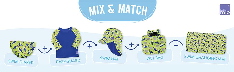 Bambino Mio mix and match swim collection