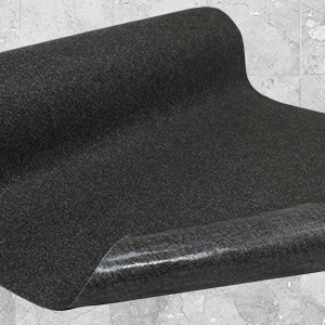 Adhesive back, stays in place, Sure Stride matting, safe, clean, comfortable, high traction matting