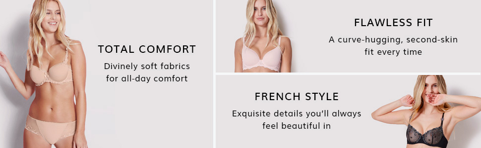 Simone Perele, Bras, Panties, French Lingerie, Comfort bras, Flawless fit, French Lingerie