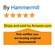 """5 star rating and the words: """"ships and sold by Amazon"""" ensure original Hammermill paper."""