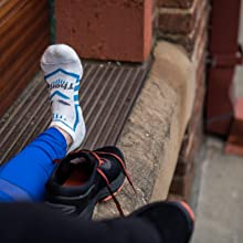 Thorlos Edge running sock white blue