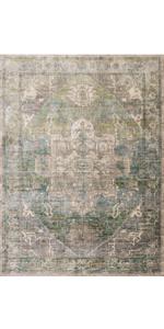 green blue rug