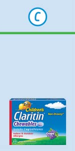 Children's Claritin 24 Hour Non-Drowsy Allergy Chewable Tablets childrens claritin chewable tablet