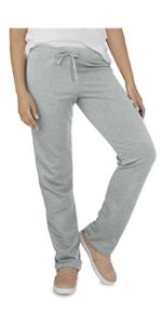 Essentials, french terry, open bottom pant, ladies, comfy