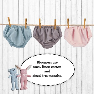 diaper covers;bloomers;pink;blue;gray;shower gift;gifts;for boys;girls;keepsake