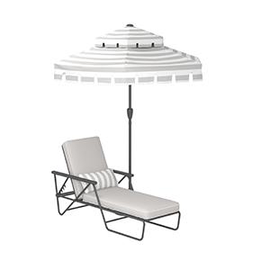 novogratz outdoor connie lounge chair and umbrella;novogratz outdoor furniture;patio furniture