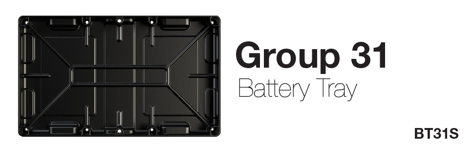 Battery tray, NOCO battery tray, NOCO, Group 31, battery tray group 31, group 31 battery tray