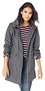 Back Bow Packable Hooded Rain Jacket