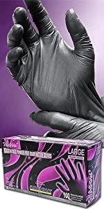 Shadow Nitrile 6 mil Disposable glove black