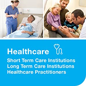 Healthcare, short- and long term care institutions, healthcare practitioners and providers