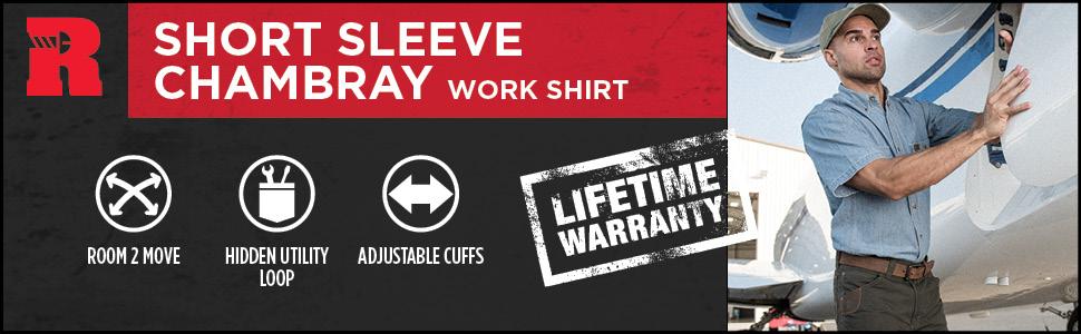RIGGS Short Sleeve Chambray Work Shirt