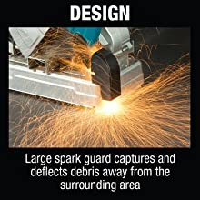 design large spark guard captures deflects debris away from surrounding area protect sheild