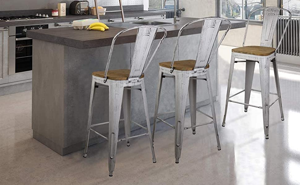 seatback bar counter industrial furniture kitchen dining restaurant chair seating stackable stacking