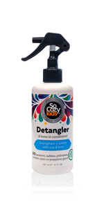 SoCozy Detangler & Leave-in Conditioner STRENGTHENS + SOFTENS: Works in seconds - no tugging