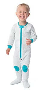 sleepsie quilted PJs diaper easy romper pajamas baby girl boy unisex footed