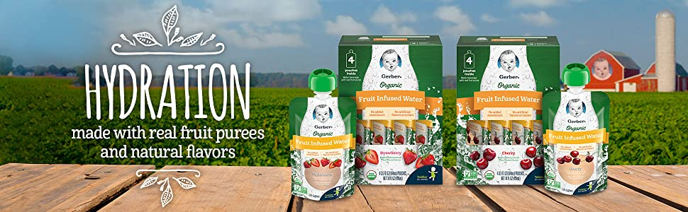 HYDRATION Made with real fruit purees