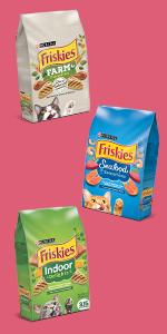 Three bags of cat food