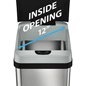 Stainless steel trash can garbage bin rubbish waste recycle recycling kitchen office best