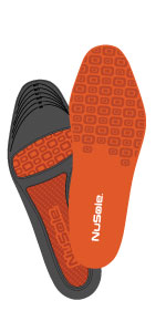 nusole work insole, insole for work boots, all day comfort insole, anti fatigue insole, neutral arch