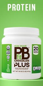 Vegan Organic Protein Powder PBfit Chocolate