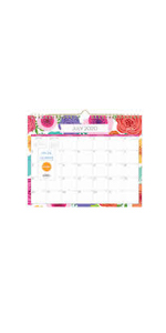 blue sky, mahalo collection, 2020-2021, bold florals, 11x8.75, monthly, wall calendar
