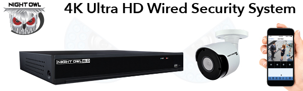 4K Ultra HD Wired Security System