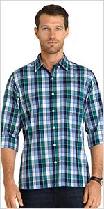 van heusen big tall never tuck long sleeve shirt, big tall shirts for men