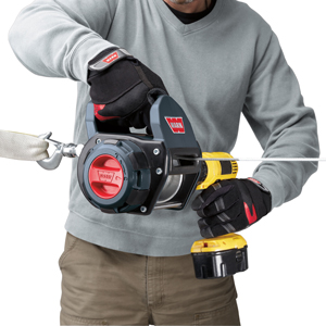 features ergonomic handle and works with any portable winch