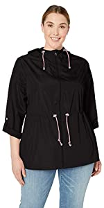 Plus Size Packable Anorak Jacket