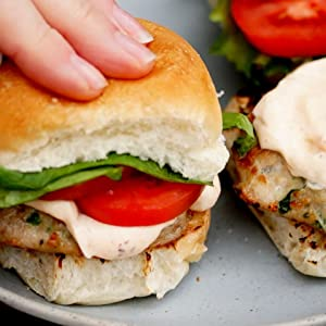 Sliders in buns