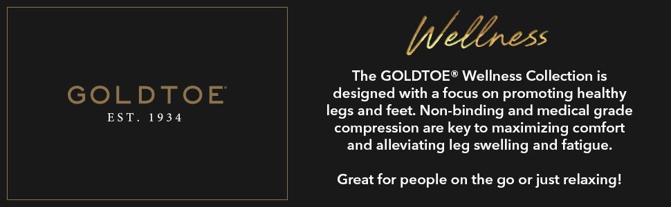 GOLDTOE Wellness socks; compression and non-binding socks