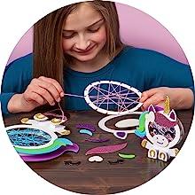 easy string art room décor complete craft kit unicorns magic glitter heart yarn art