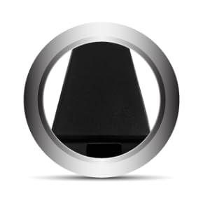 simple yet elegant appearance of the semi-gloss, satin black finish