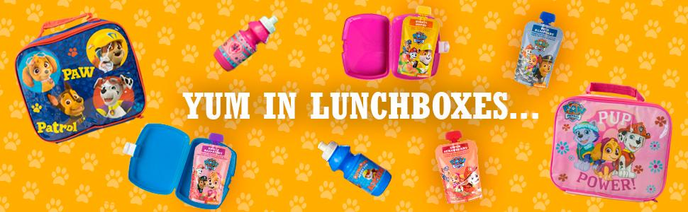 Yum in lunchboxes and lunch bags