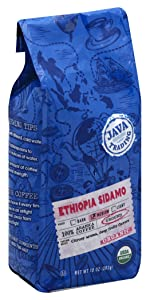 ethiopia coffee single origin ground organic medium roast fruity flavors citrus java trading