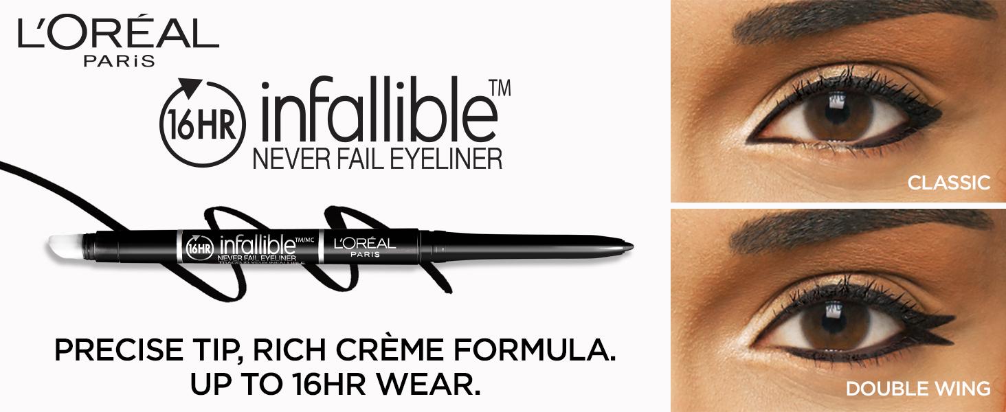 loreal eyeliner, longlasting eyeliner, black eyeliner, cat eye eyeliner