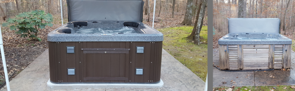 spa, replacement, DIY, plastic, waterproof, transformation, quality, highwood, hot tub, jacuzzi