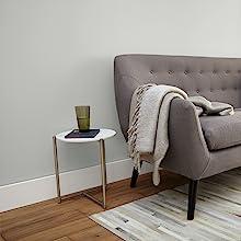 gray walls, interior design