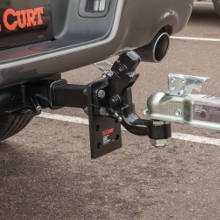 CURT Pintle Ball Pintle Hook Hitch Coupled