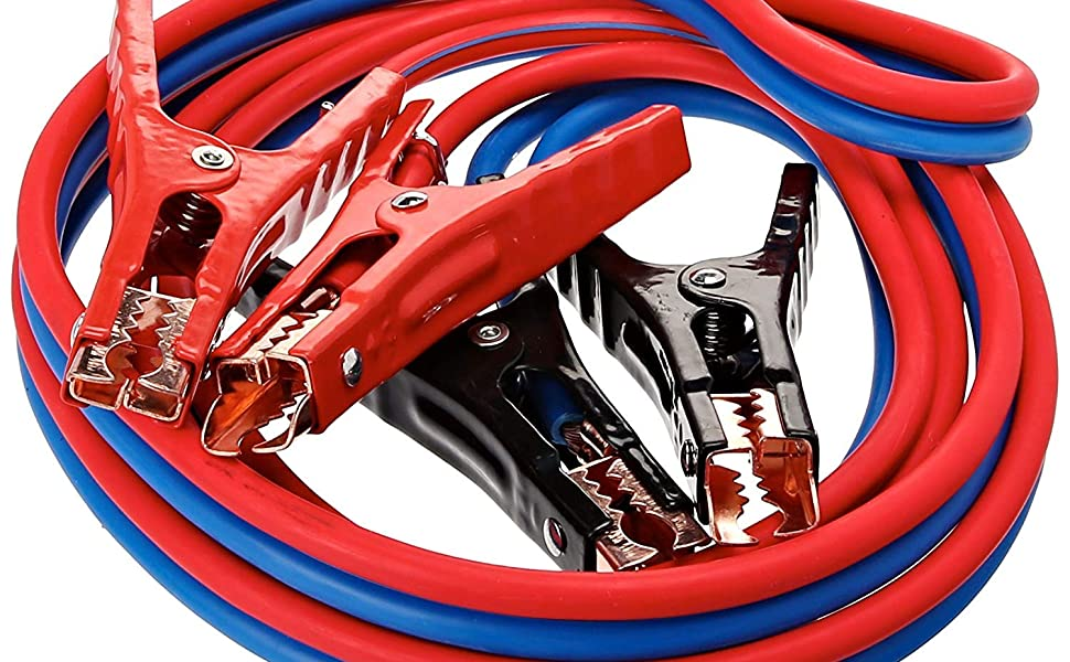 Super Heavy Duty 500 amp 6 gauge No Tangle Dual Construction Battery Booster Jumper Cables
