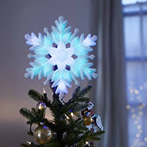 Snowflake Christmas Tree Topper