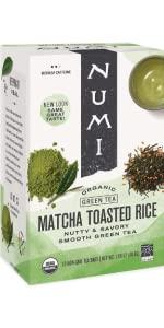 numi organic tea matcha toasted rice tea bags
