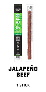 jalapeno beef stick country archer meat snack