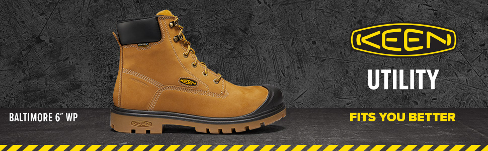 KEEN work boot, industrial, work boot, steel toe, safety toe, construction, leather boot