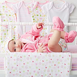 baby girl bathrobe pink boots adorable shoes bathing cuffs belt warm fuzzy