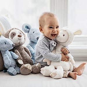 baby gund toothpicks plush stuffed animals llama mouse sloth baby
